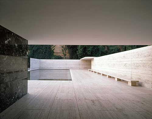 Deutscher Pavillon In Barcelona Architekt Mies Van Der Rohe